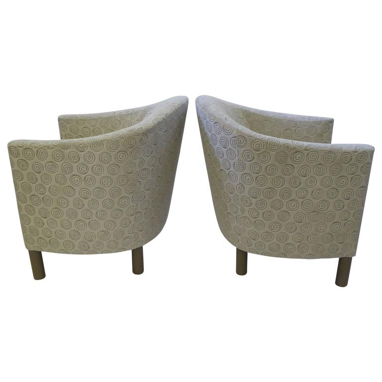 Pair of Club Chairs by Brayton International Collection For Sale