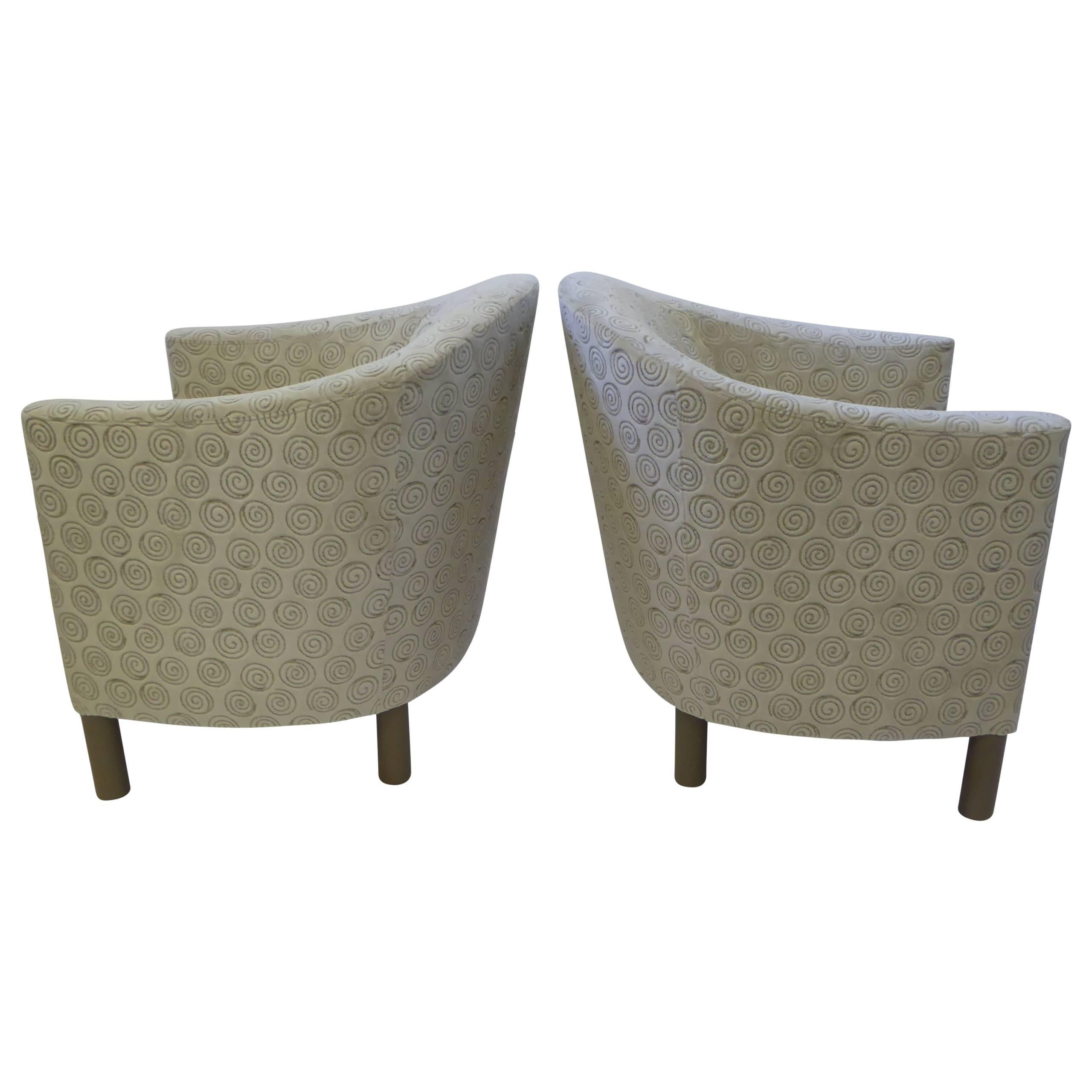 Pair of Mid Century Modern Club Chairs by Brayton International Collection