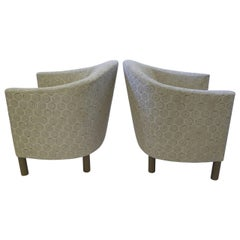 Pair of Club Chairs by Brayton International Collection