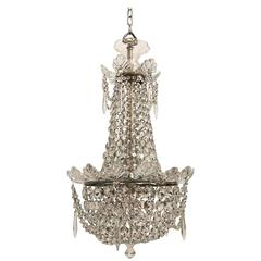 Petite Crystal and Glass Chandelier