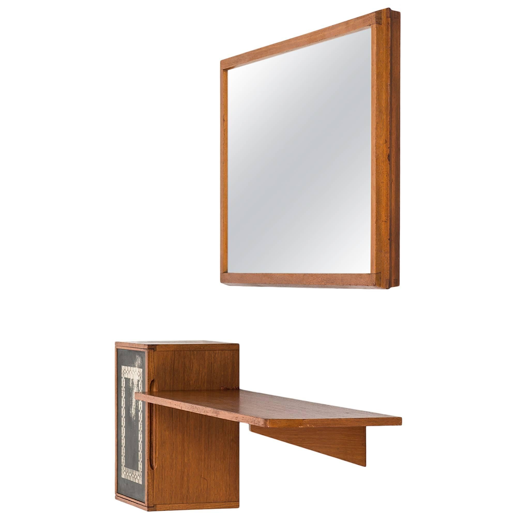 Hans-Agne Jakobsson Hall Furniture with Mirror in Teak