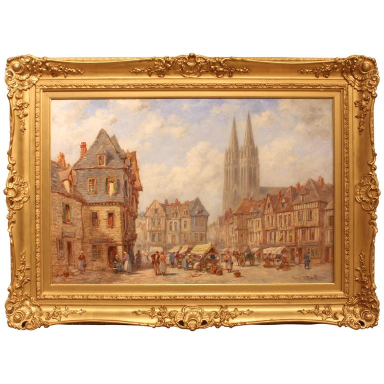 """""""Quimper, Brittany"""" Oil Painting by Pierre le Boeuf"""