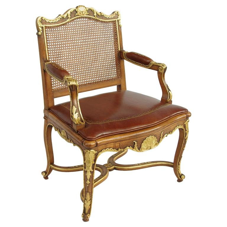 Regency Style Beech Wood Armchair Circa 1880 At 1stdibs