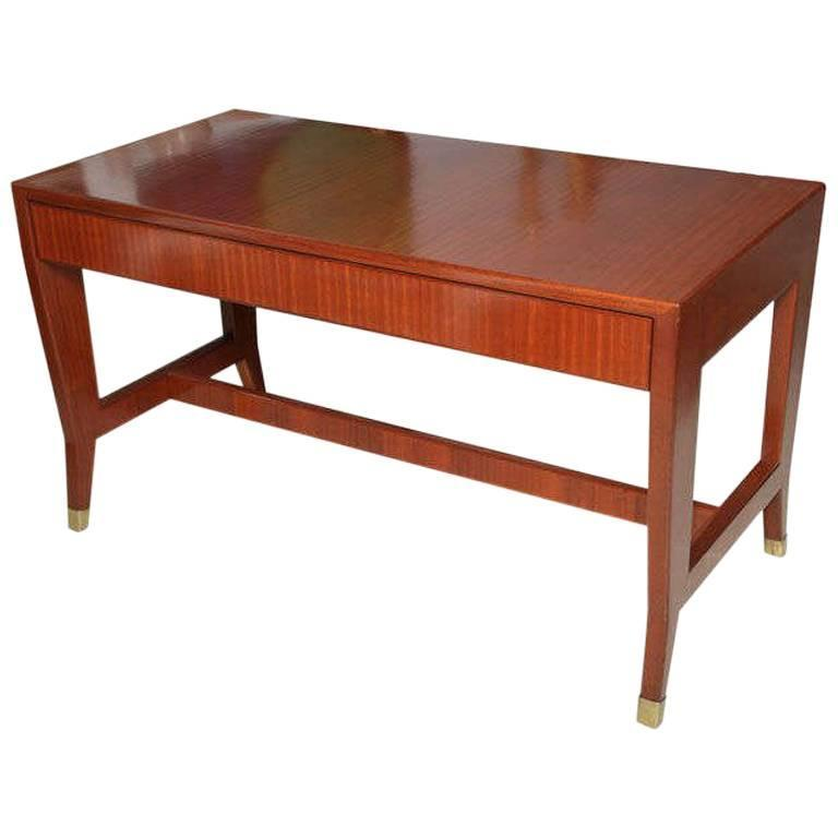 Italian Modern Mahogany Desk/Writing Table, Gio Ponti For Sale