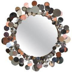 Curtis Jere Chromed Raindrops Mirror