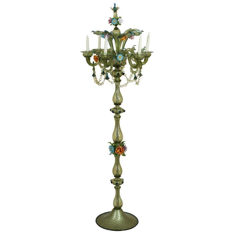 Single Mid-Century Modern Murano Floor Lamp