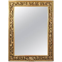 18th Century English Carved Giltwood Mirror