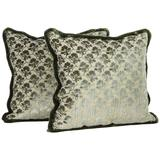 Pair of Luigi Bevilacqua Silk Velvet Pillows