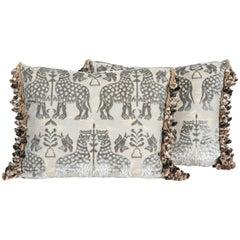 Pair of Luigi Bevilacqua Cut Silk Velvet Pillows