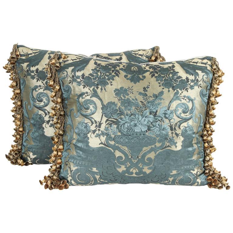 Pair of Luigi Bevilacqua Brocade Silk Pillows
