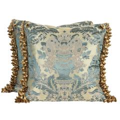 Pair of Luigi Bevilacqua Silk Brocade Pillows