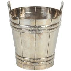 Single Sterling Silver Ice Bucket Signed Tiffany and Co.