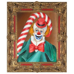Original Signed Oil Painting of Clown by Red Skelton