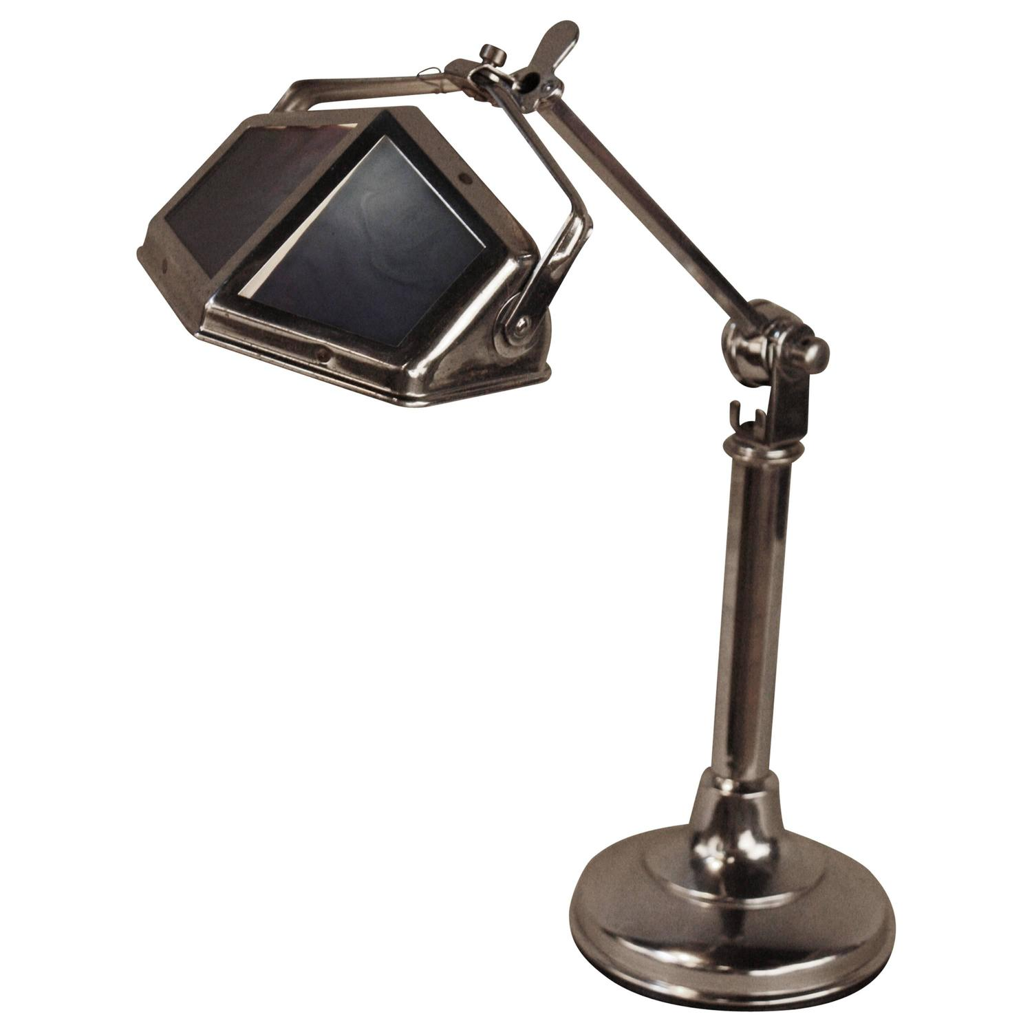 french art deco adjustable table lamp by pirouette for sale at 1stdibs. Black Bedroom Furniture Sets. Home Design Ideas