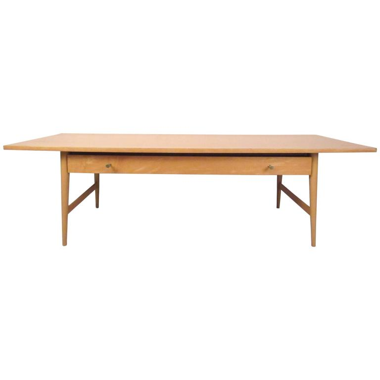 Mid-Century Modern Single-Drawer Coffee Table by Paul McCobb