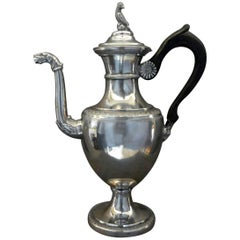 Italian Neoclassical Silver Coffee Pot