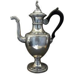 Italian Neoclassical Silver Coffee Pot