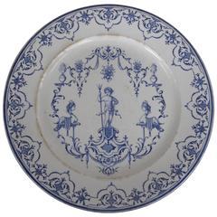 18th Century French Moustiers Faience Charger