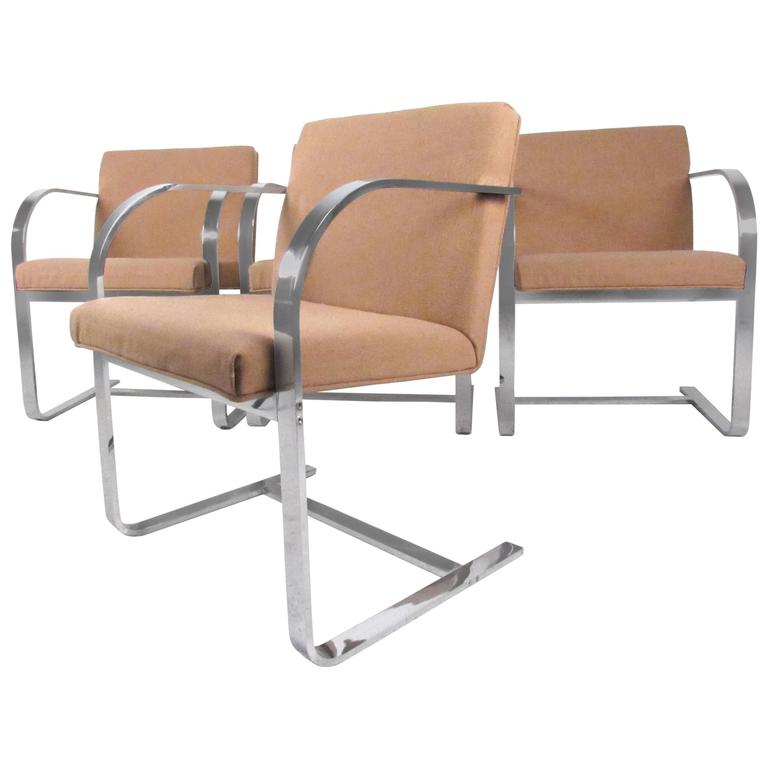 Set of Mid-Century Mies van der Rohe Dining Chairs by Thonet