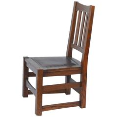 Original Mission Style Arts Crafts Oak Chair By Stickley Brothers