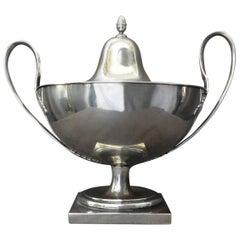 Italian Silver Neoclassical Lidded Urn