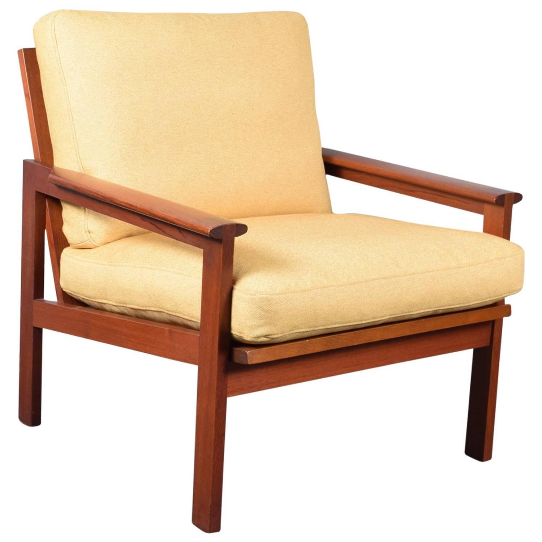 Illum Wikkelso Teak Capella Lounge Chair at 1stdibs