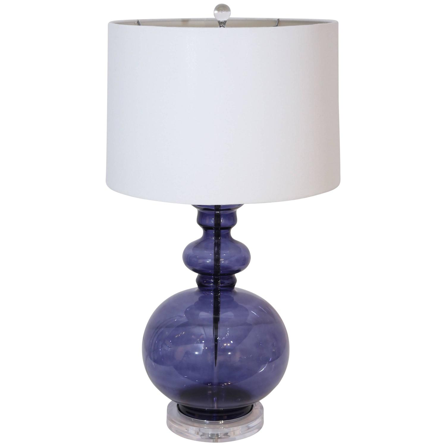 Blue glass lamp gourd table lamp at 1stdibs for Images of table lamps