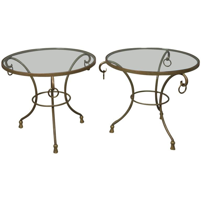 Pair of Round Regency Style Side Tables 1