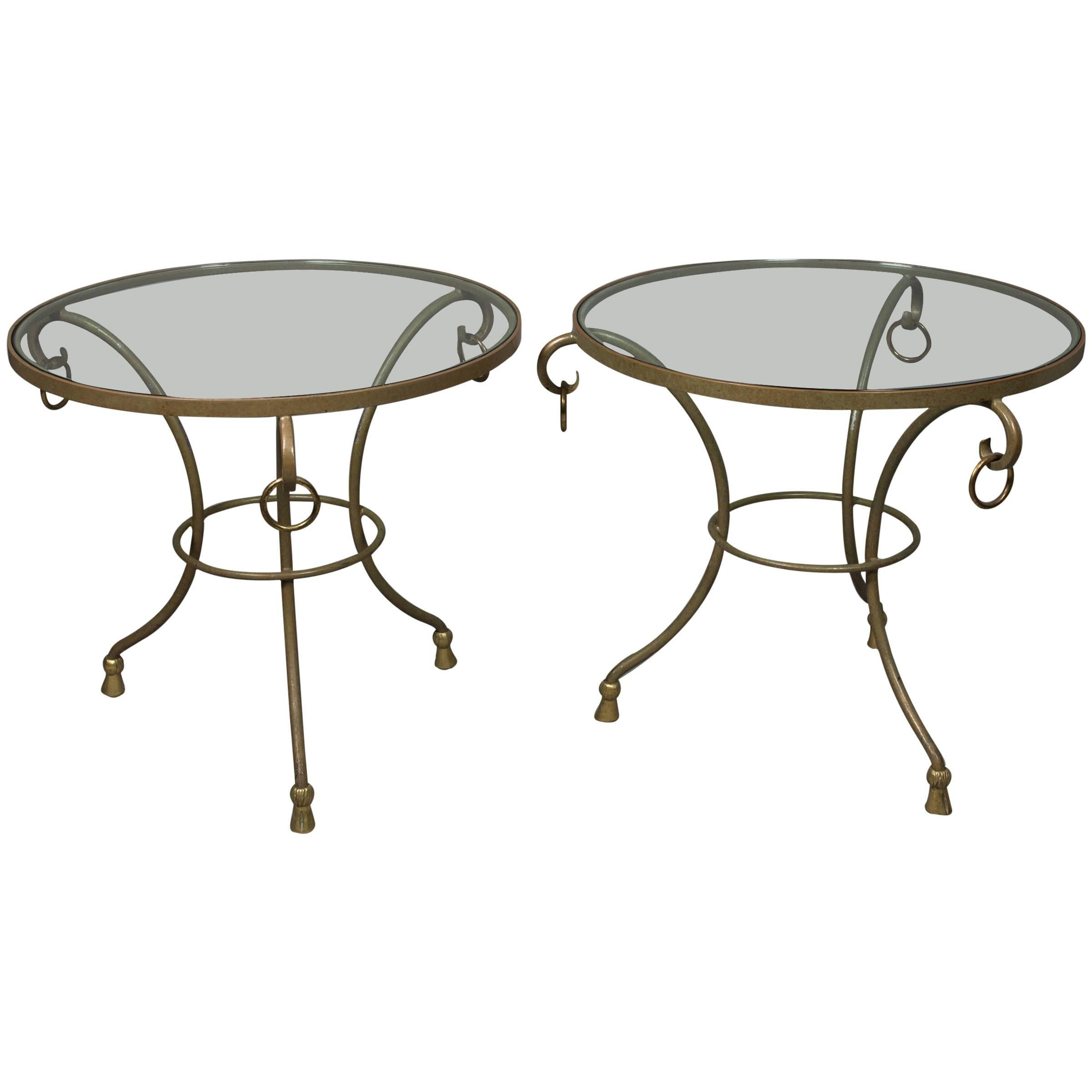 Pair of Round Regency Style Side Tables