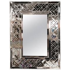 Lattice Weave Framed Mirror