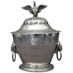 Silver Swan Sugar Bowl