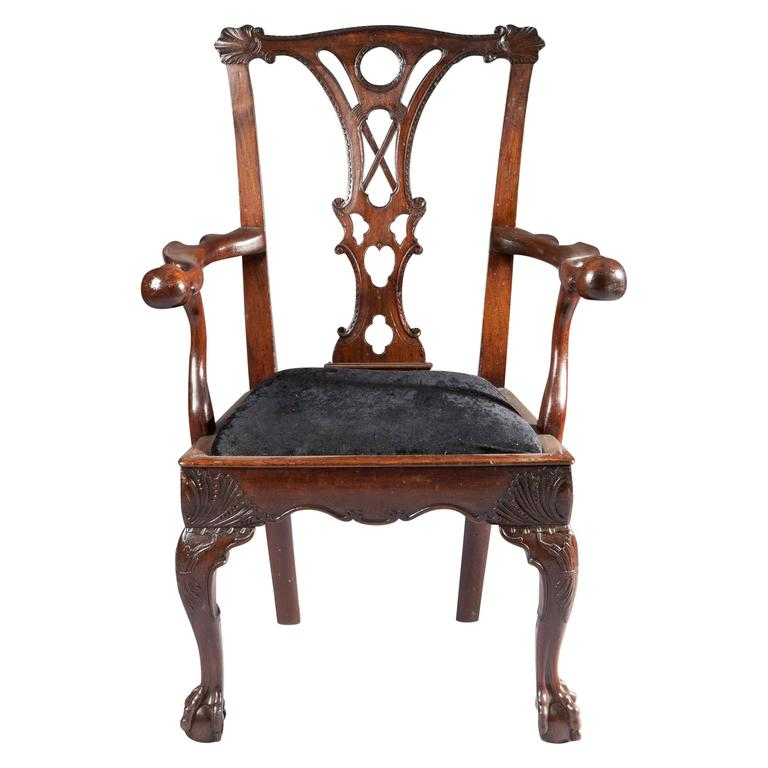 18th Century Irish Mahogany Butlers Chair For Sale At 1stdibs