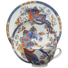 Copeland and Garrett Tobacco Leaf Plate, Cup and Saucer