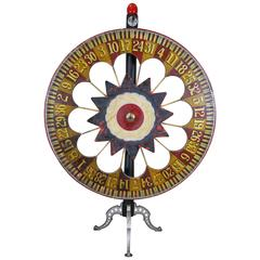 American Folk Art Carnival Game Wheel