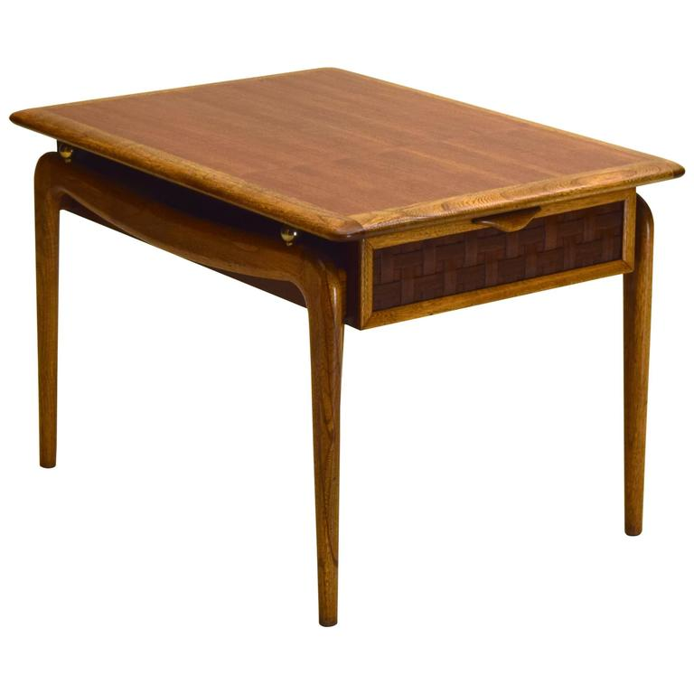 Walnut And Oak End Table By Lane Altavista For