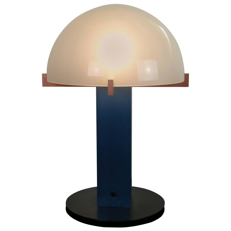 Metal And Brushed Aluminium Table Lamp By Ron Rezek At 1stdibs
