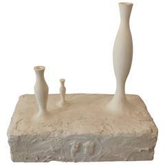 """ANDREA BRANZI """"Monoliti"""" Plaster Sculpture"""