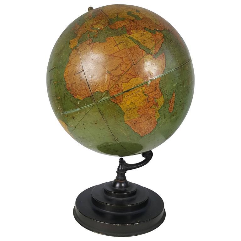 art deco antique world globe richard e byrd globe barowe. Black Bedroom Furniture Sets. Home Design Ideas