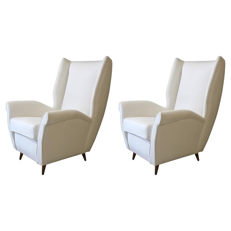 Pair of Gio Ponti Armchairs from 1950s For Sale