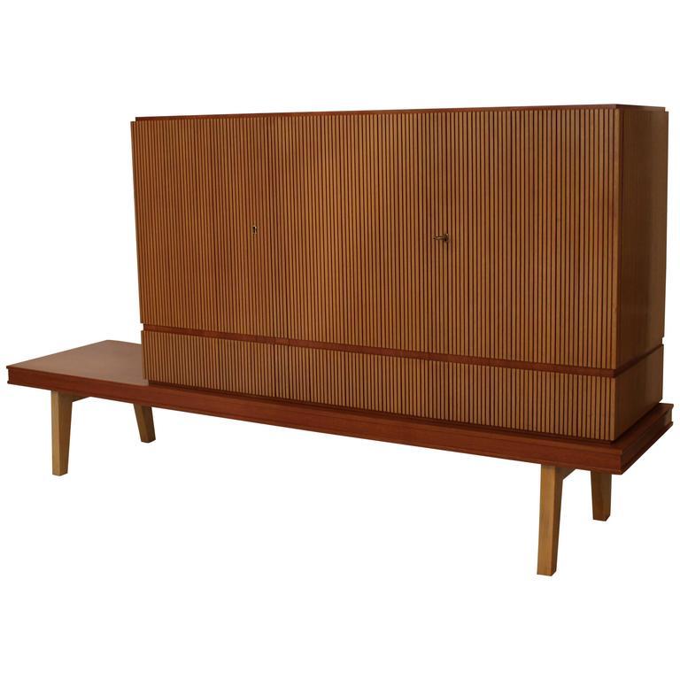 Three-Door Reeded Cabinet