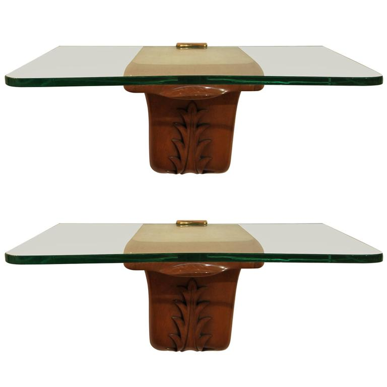Pair of Borsani Wall-Mounted Console Tables