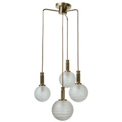 Four Globe Pendant Light by Doria