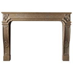 The Antibes, a French Regency Style Mantel Carved in Limestone