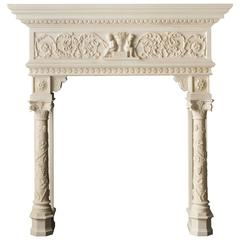 Highly Carved Italian Style Mantel in Marble 'The Bellagio'