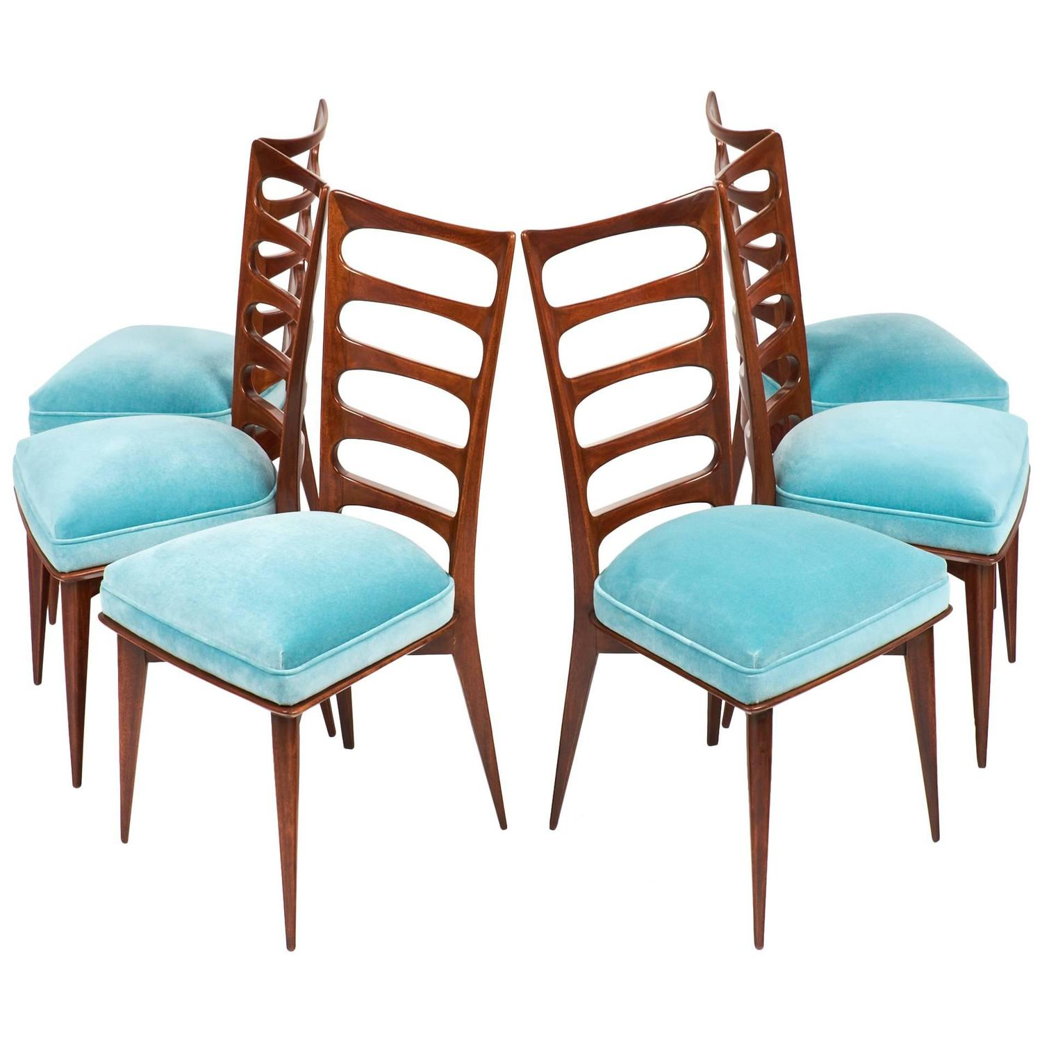 french mid century set of six dining chairs at 1stdibs