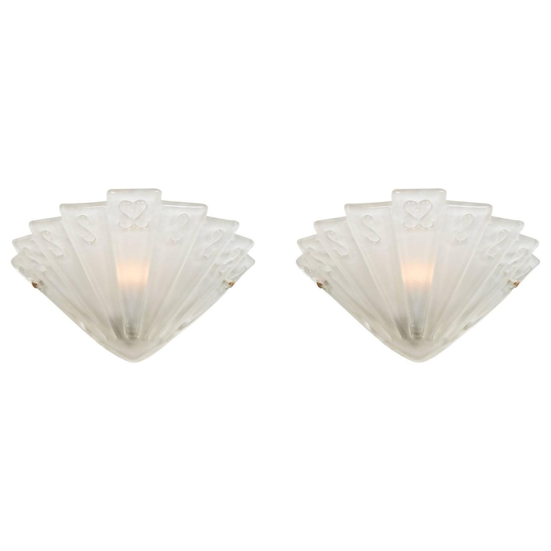 6ba50db7aba3 Art Deco Coloured Glass Wall Lights - Wall Art Ideas