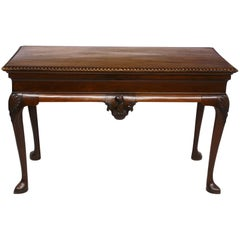 George II Irish Serving Table with Crest, a Cock's Head Erased