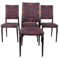 Exquisite Set of Mid-Century Italian Dining Chairs by Eugenio Gerli