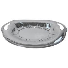 Distinctive Tiffany Sterling Silver Bread Tray