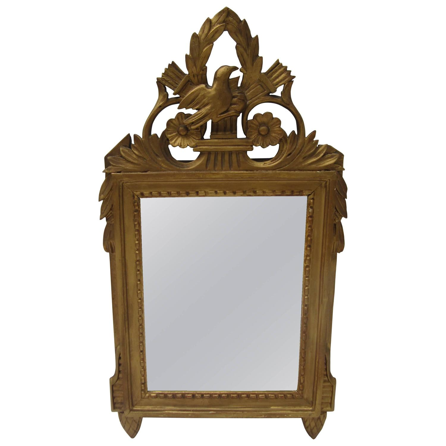 Small french gilt mirror for sale at 1stdibs for Small wall mirrors for sale